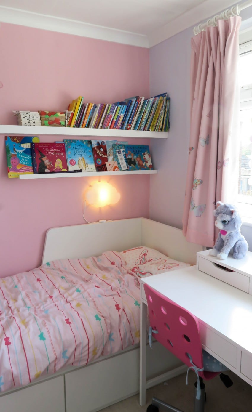 IKEA FLEKKE BED AND BOOK SHELVES