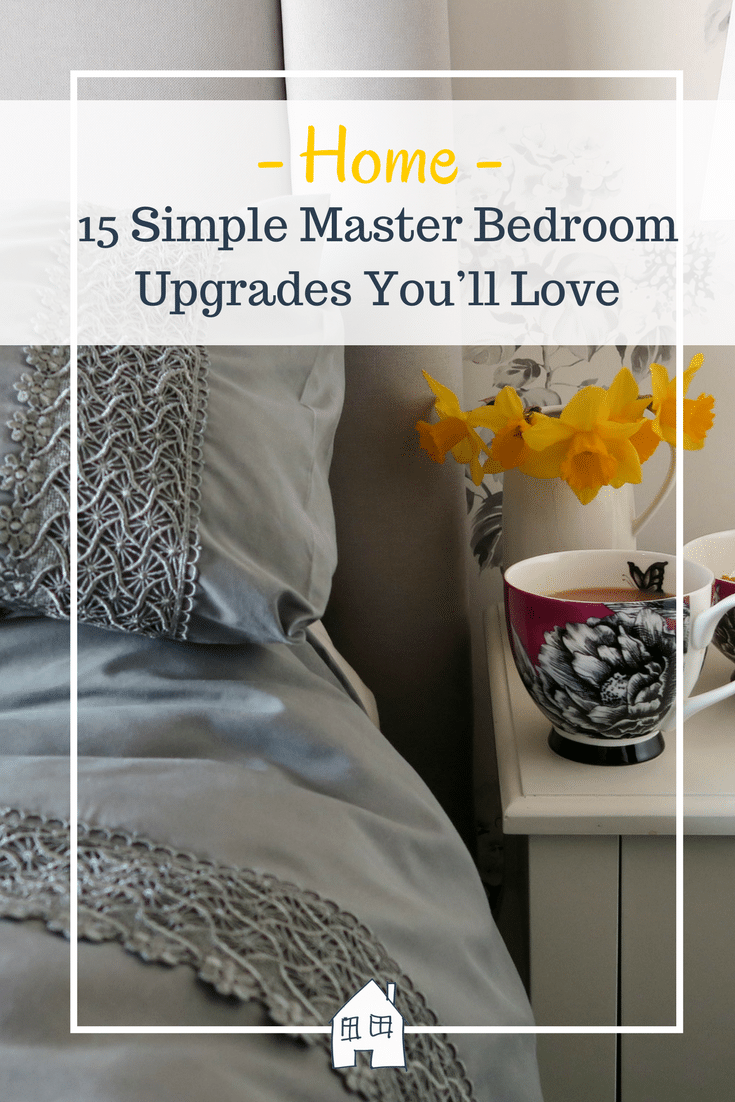 15 master bedroom upgrades that your love. Master bedroom ideas, master bedroom. Master bedroom with grey bedding and white furniture
