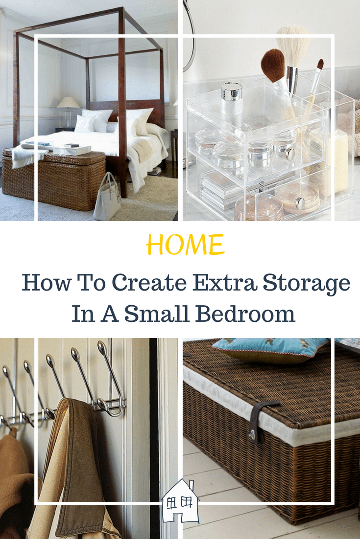 How to create extra storage in a space bedroom. Tips on how to create extra storage, storage in small spaces and ideas for small space storage
