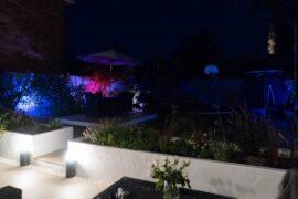Philips hue smart outdoor lights in garden